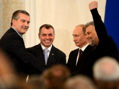 Путин Аксенов Константинов Чалый, подписание принятие Крыма в Россию