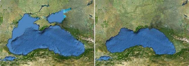 Чёрное море, чёрное озеро, история моря
