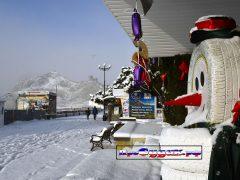 зима в Судаке, снеговик