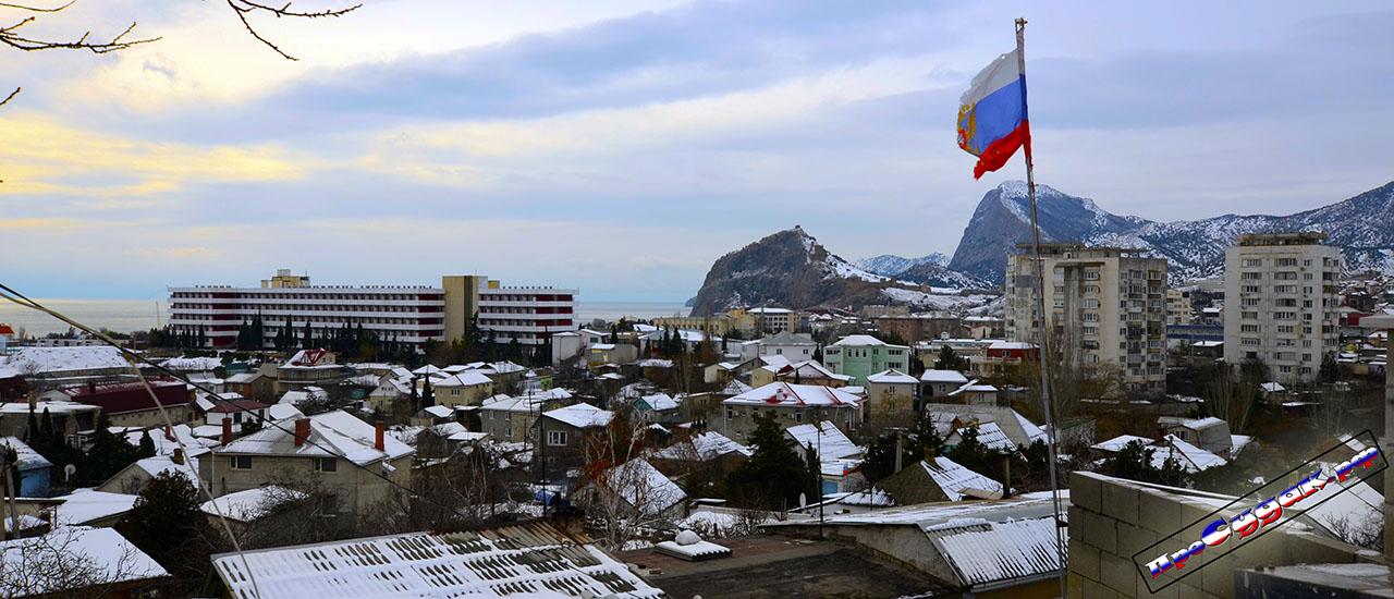 зима в Судаке