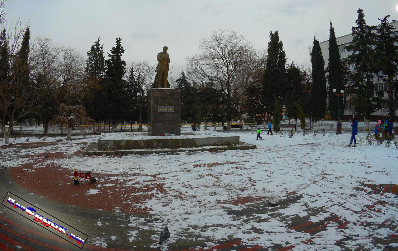 Зима снег Судак Ленин