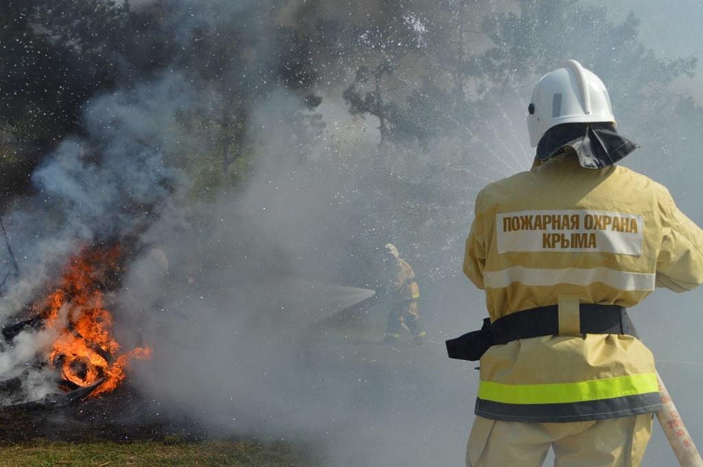Пожар в Крыму