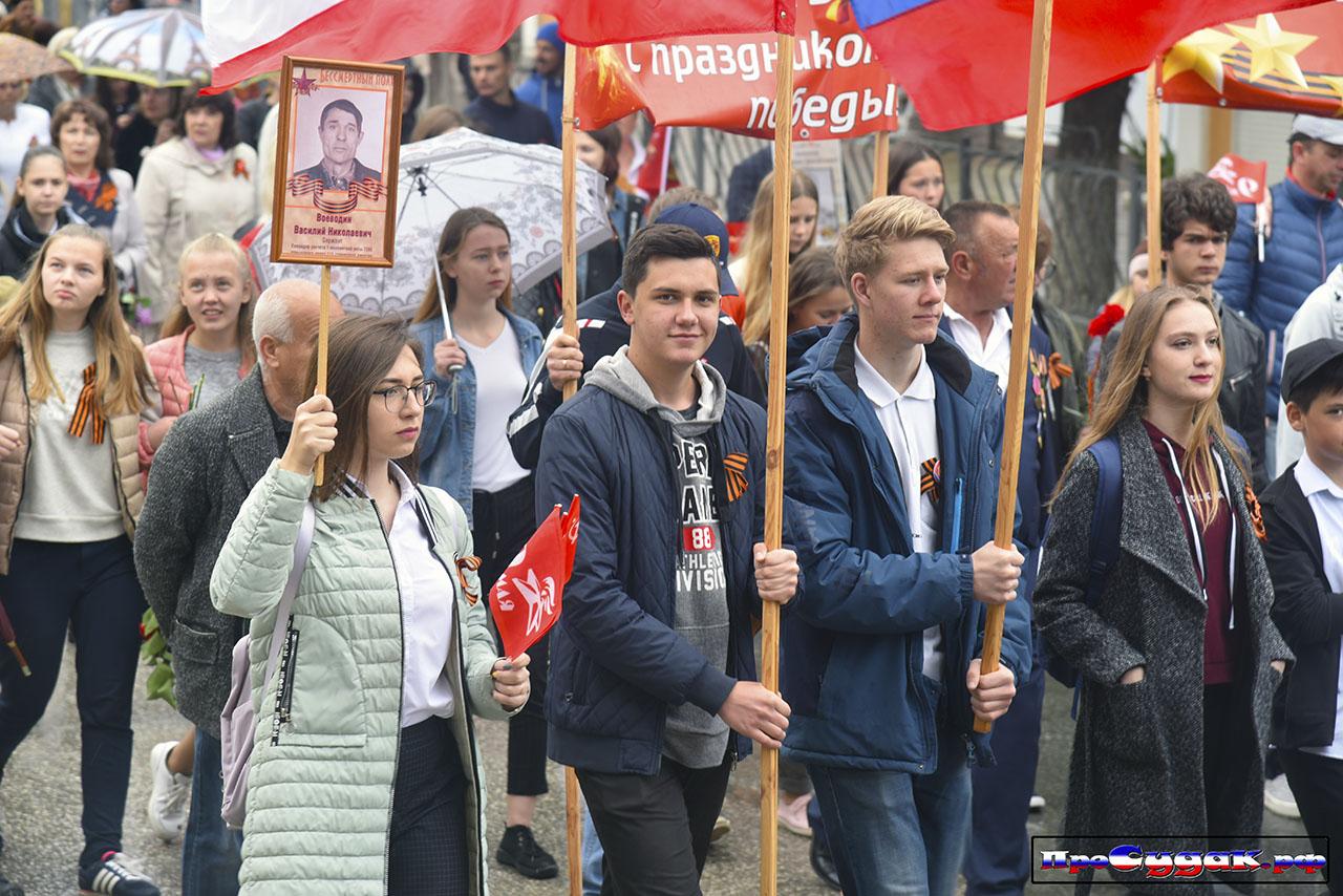 школьники на Параде Победы