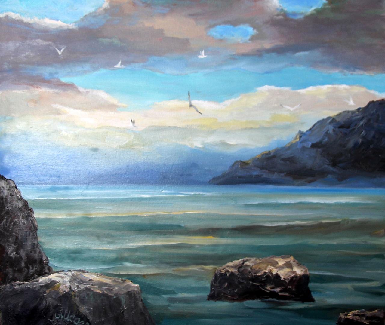 пейзаж Крыма, картина