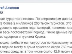 Фейсбук Аксёнова