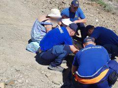 В районе п. Новый Свет (городской округ Судак), женщина оступилась и поломала ногу, самостоятельно передвигаться не может.