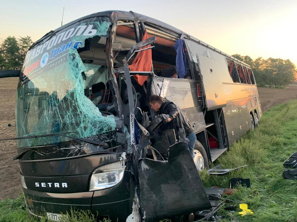 авария автобус Ставрополь