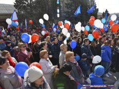 праздник в Судаке, флаги и шарики