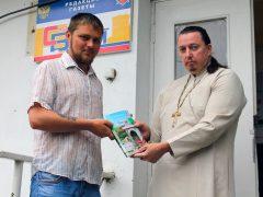 Протоиерей Валентин Ромушин и Александр Смолов