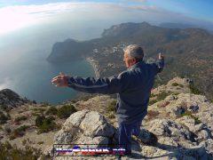 Ермоловский Вазген, пенсионер в горах, туризм в Крыму